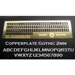 Brass Etch - Copperplate Gothic