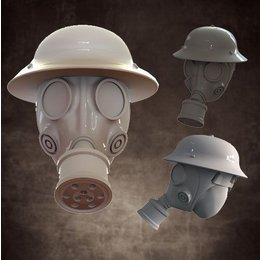 Heads - Gas Mask - Pan Helmet