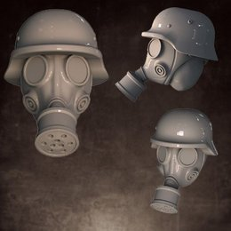 Heads - Gas Mask - Rolled Helmet