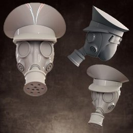 Heads - Gas Mask - Officer Caps