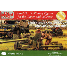 British 6 pdr Anti Tank Gun & Loyd Carrier - 1/72nd