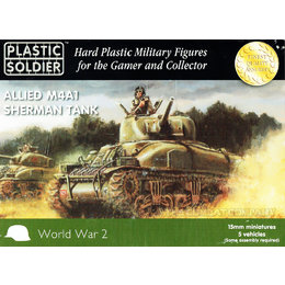 Allied M4A1 75mm Sherman Tank (5pcs)