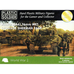 Allied M4A1 76mm Wet Stowage Sherman Tank (5pcs)