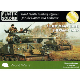Allied Sherman M4A3 (Late) Tank (5pcs)