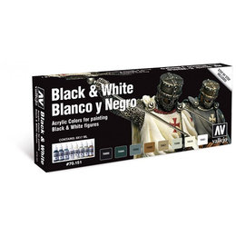 Black & White Paint Set - 8pcs