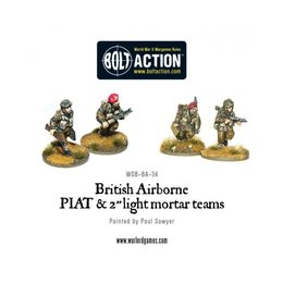 BA-34 British Airborne PIAT and Light Mortar Team