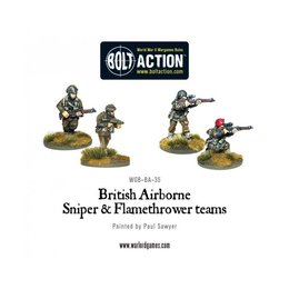 BA-35 British Airborne Flamethrower and Sniper Teams