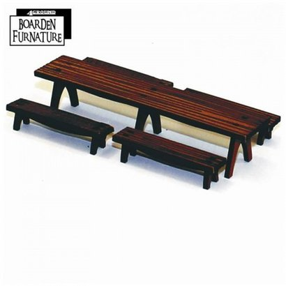 Long Trestle Table & Benches