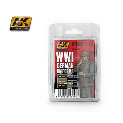 AK-3090 WWI German Uniforms Paint Set