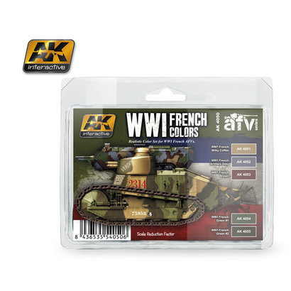 AK-4050 WWI French Paint Set