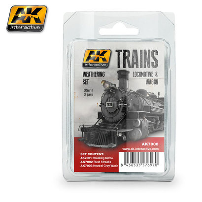 AK-7000 Trains, Locomotives & Wagons Weathering Set