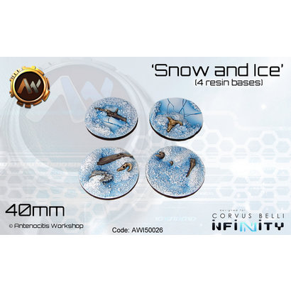 Snow and Ice Round Bases 40mm