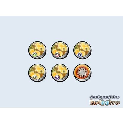 Infinity Tokens - Camo Yellow (25mm)