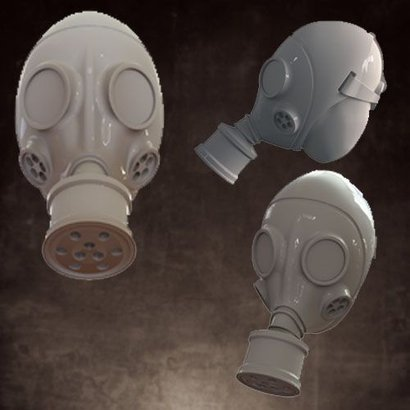 Heads - Gas Mask - No Helmet