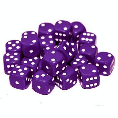 Purple D6 dice
