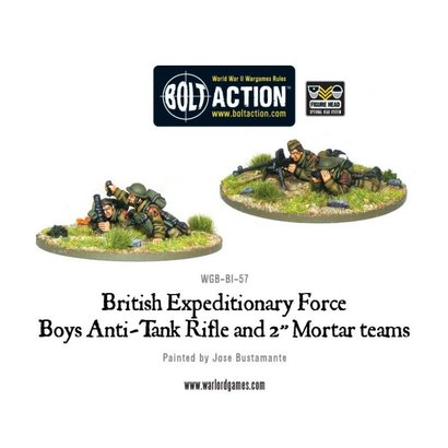 "BI-57 British BEF Anti-Tank Rifle Team & 2"" Mortar"