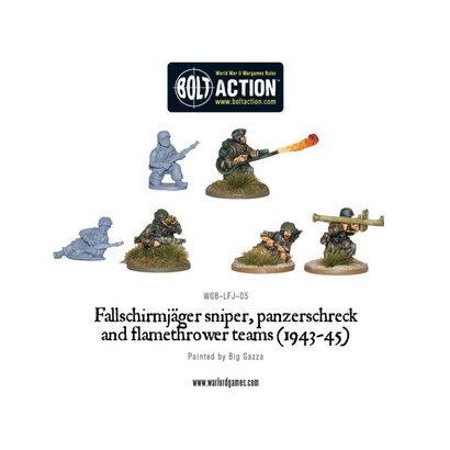 LFJ-05 Fallschirmjager Flamethrower, Sniper & Panzerschreck