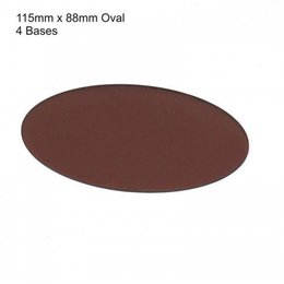 Brown Oval 115mm x 88mm