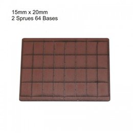 Brown Rectangle 15mm x 20mm