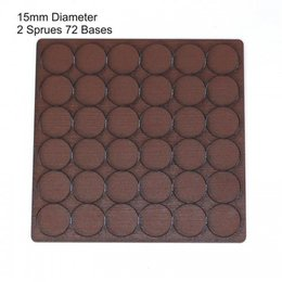 Brown Round 15mm