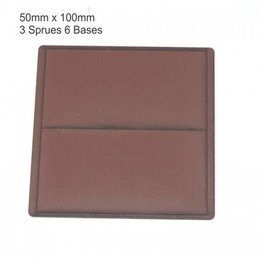 Brown Rectangle 50mm x 100mm