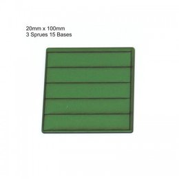 Green Rectangle 20mm x 100mm