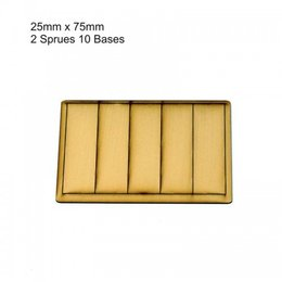 Tan Rectangle 25mm x 75mm