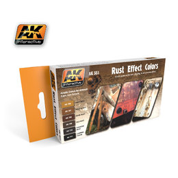 AK-551 Rust Effect Colours
