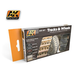 AK-557 Tracks and Wheels Paint Set