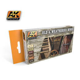 AK-562 Old & Weathered Wood Paint Set #1