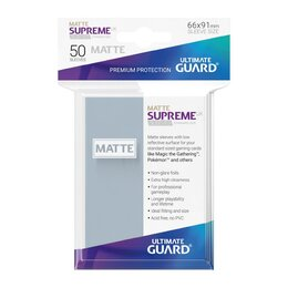 Ultimate Guard Supreme UX Sleeves Standard Size Matte Transparent